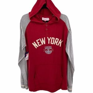 🆕NY Red Bulls Mitchell Ness MLS Light Hoodie